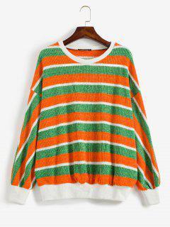 ZAFUL Jersey Brillantes De Rayas De Contraste - Multicolor S