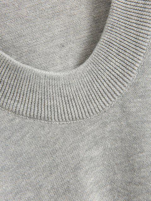 new Drawstring Hooded Sweater - GRAY CLOUD ONE SIZE Mobile