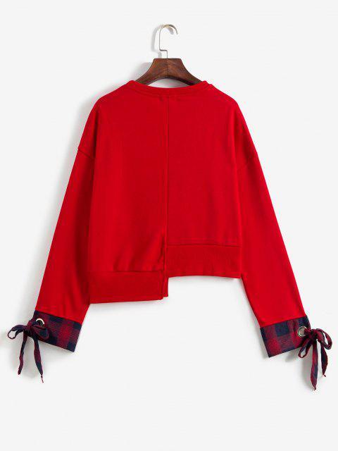 Sudadera Asimétrica de Ojales - Amo Rojo M Mobile