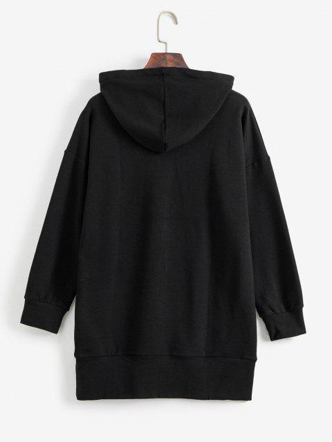 ZAFUL Sweat à Capuche Graphique à Cordon - Noir Taille Unique Mobile