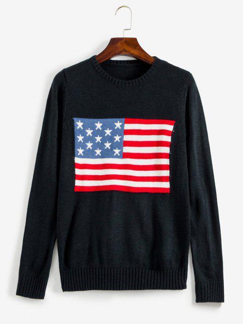 ZAFUL Jersey con Gráfico de Bandera Americana - Negro S Mobile