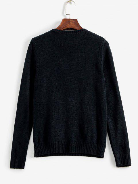 ZAFULアメリカ国旗グラフィックセーター - ブラック M Mobile
