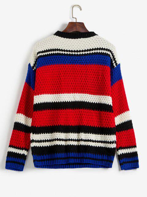 Farbblock Chunky Sweater - Multi Eine Größe Mobile