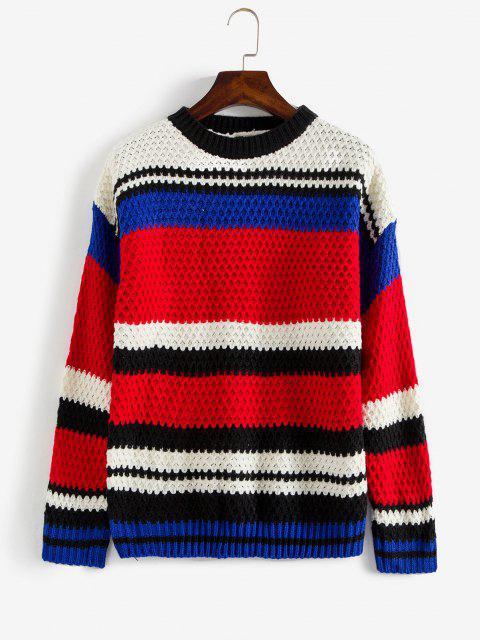 Suéter Volumoso Bloco de Cor - Multi Um Tamanho Mobile