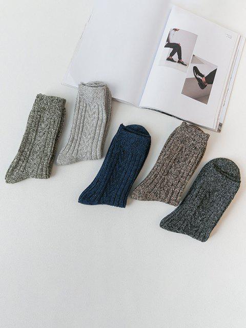 women 5 Pairs Marled Quarter Socks Set - MULTI-A  Mobile