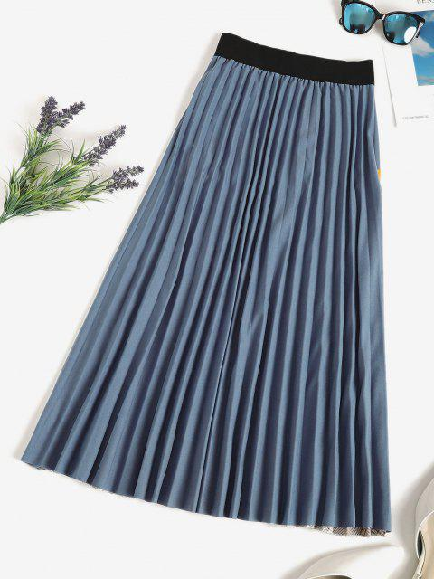 ladies Plaid Knife Pleated Patchwork A Line Skirt - MULTI ONE SIZE Mobile