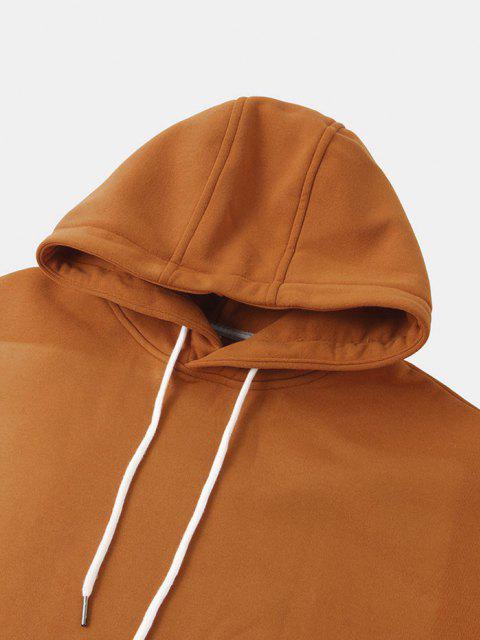 Sweat à Capuche Astronaute Imprimé en Laine - Orange L Mobile