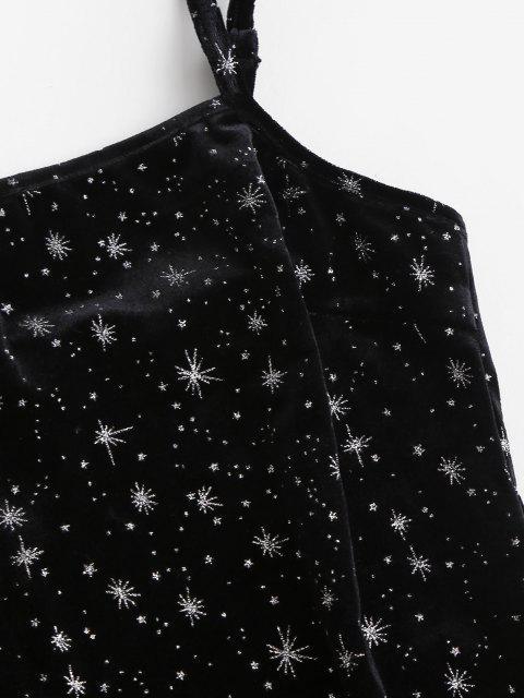 Robe Moulante Etoile Métallisée en Velours - Noir L Mobile