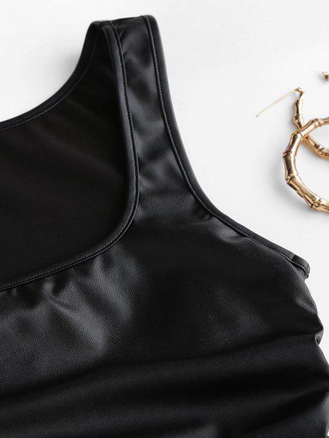 ZAFUL Bodycon Kleid aus Kunstleder - Schwarz XL Mobile