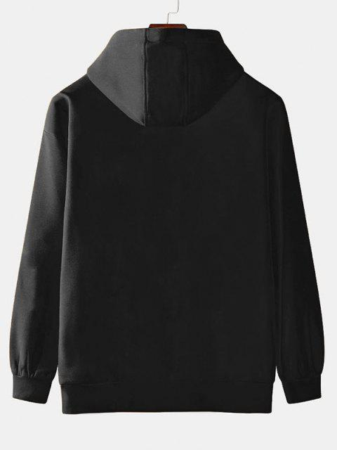 buy Planet Astronaut Cycling Print Fleece Hoodie - BLACK XL Mobile