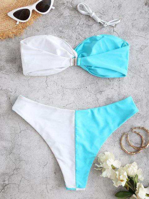 ZAFUL Bikini Acolchado de Dos Tonos - Multicolor S Mobile