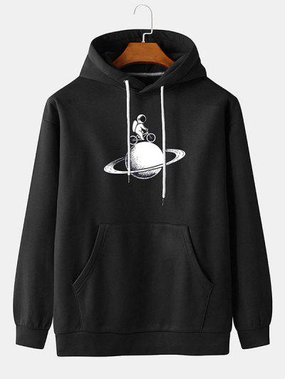 Planet Astronaut Print Hoodie