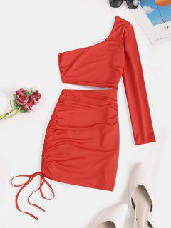 Vestido De Fiesta Con Abertura Lateral - Rojo S