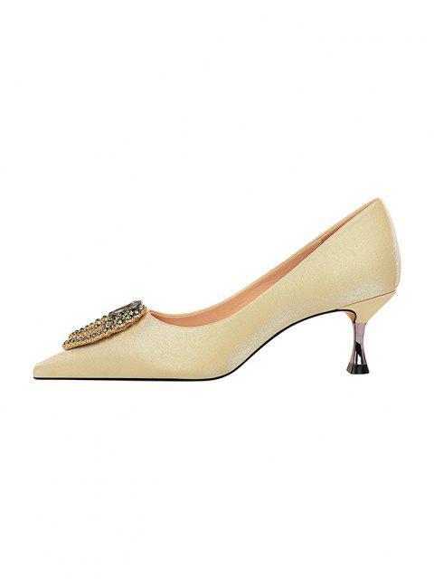 Chaussures Goutte de Larme avec Strass à Talon Haut - Champagne EU 39 Mobile