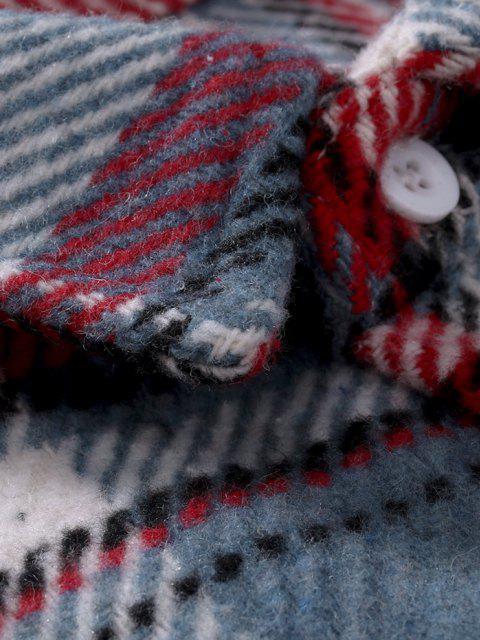 Chaqueta de Franela con Doble Estampado a Cuadros - Multicolor XXL Mobile