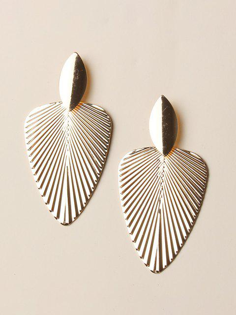 outfits Textured Leaf Shape Alloy Earrings - GOLDEN  Mobile