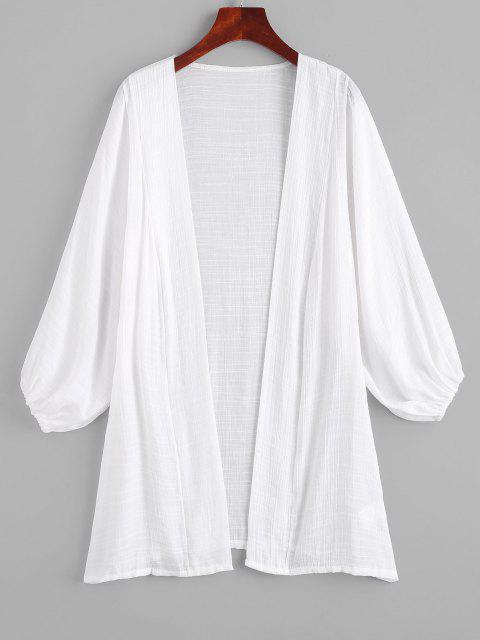 Robe Couverture Ouverte à Manches Longues - Blanc Taille Unique Mobile