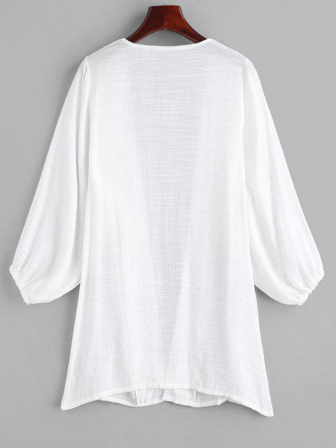 outfits Long Sleeve Open Cover-up - WHITE ONE SIZE Mobile
