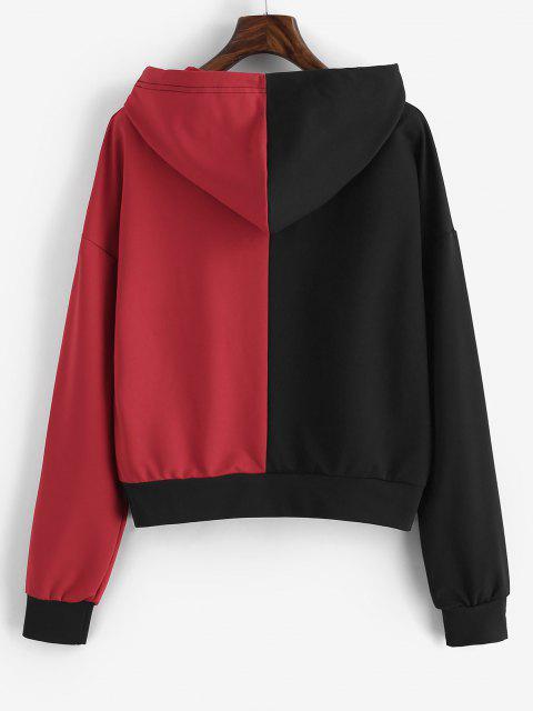 Orientalische Chinesische Charakter Zweifarbiger Hoodie - Rot L Mobile