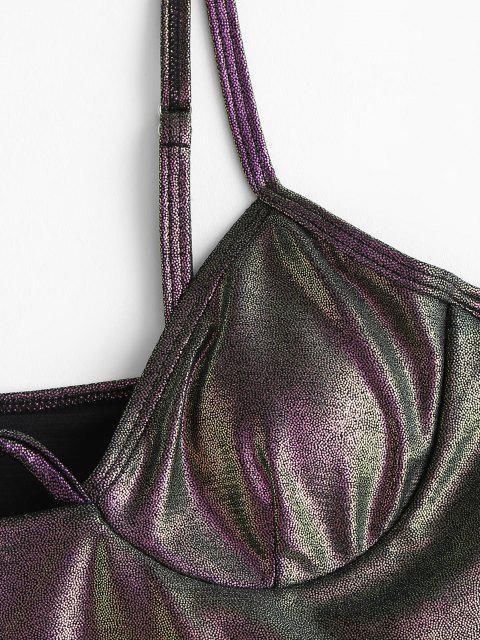 ZAFUL Metallischer Bügel Bikini-Top - Schwarz S Mobile