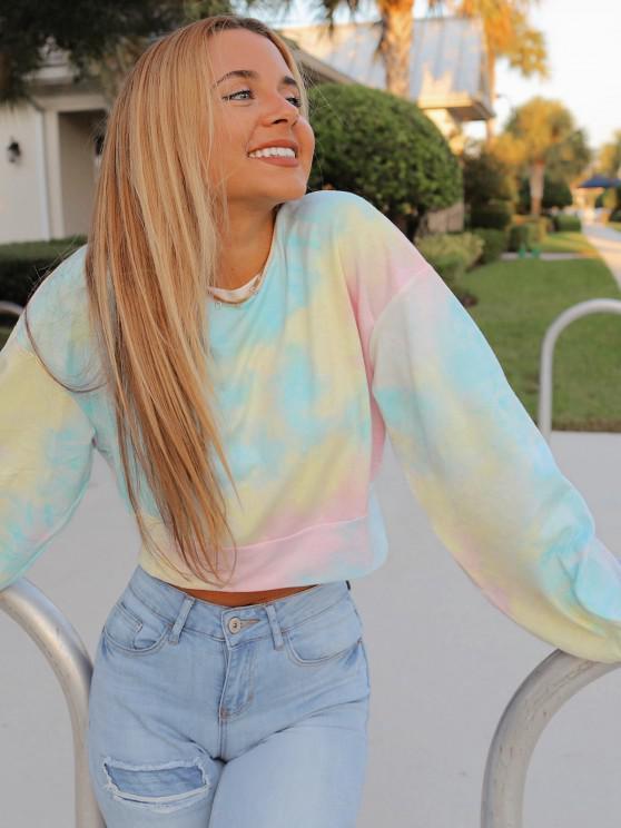 ZAFUL Drop Shoulder Tie Dye Sweatshirt - Multi M