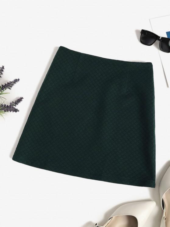 new Quilted Pelmet Skirt - DEEP GREEN L