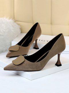 Chaussures Rétro à Talon Chaton - Kaki Eu 40
