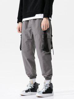 D-ring Flap Pocket Cargo Pants - Gray M