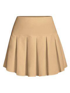 ZAFUL Pleated Mini Skirt - Khaki S
