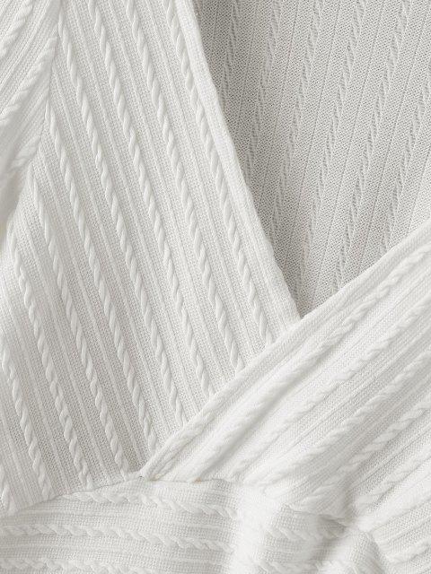 Tricô Barriga de Fora de Crochê Laceado - Branco S Mobile