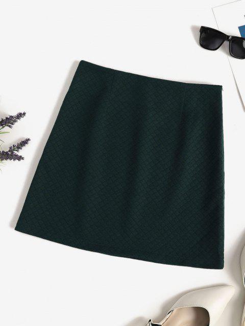 buy Quilted Pelmet Skirt - DEEP GREEN M Mobile