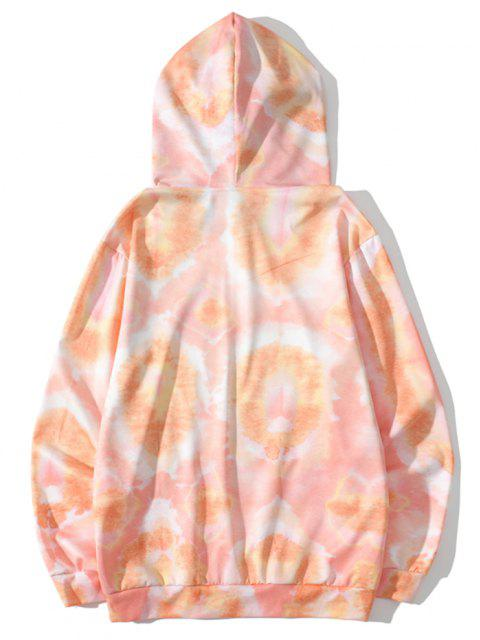 hot Funny Yummy Face Print Tie Dye Hoodie - SANDY BROWN 2XL Mobile