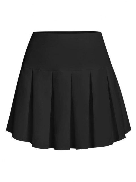 fancy ZAFUL Pleated Mini Skirt - BLACK L Mobile