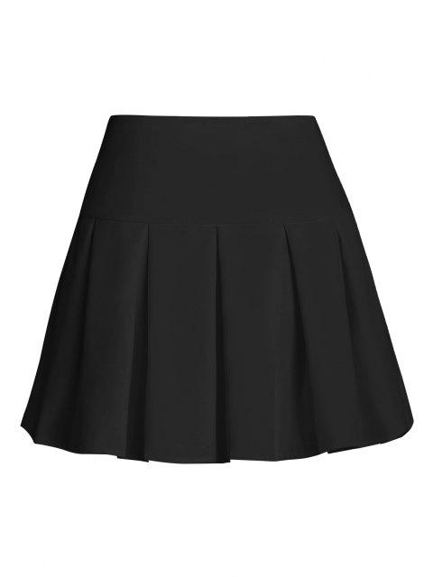 fancy ZAFUL Pleated Mini Skirt - BLACK L Mobile