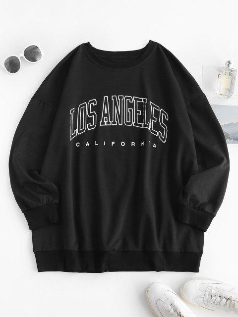 women Boyfriend LOS ANGELES Graphic Sweatshirt - BLACK XL Mobile