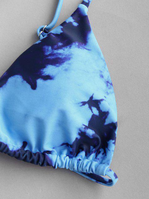 ZAFUL Tingimento de Gravata Três Peças Biquini - Azul S Mobile