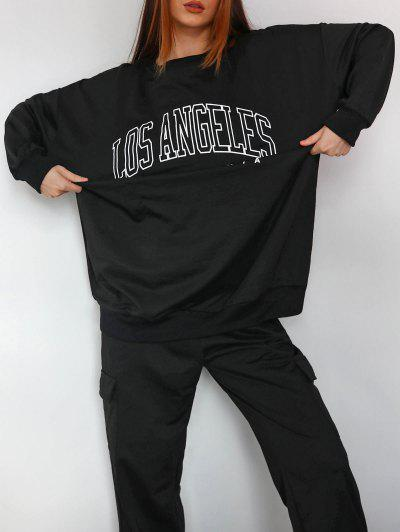 Boyfriend LOS ANGELES Graphic Sweatshirt - Black M