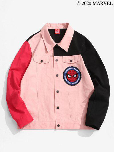 Marvel Spider-Man Patched Colorblock Shirt Jacket - Multi-a L