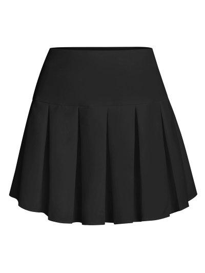 ZAFUL Pleated Mini Skirt - Black L