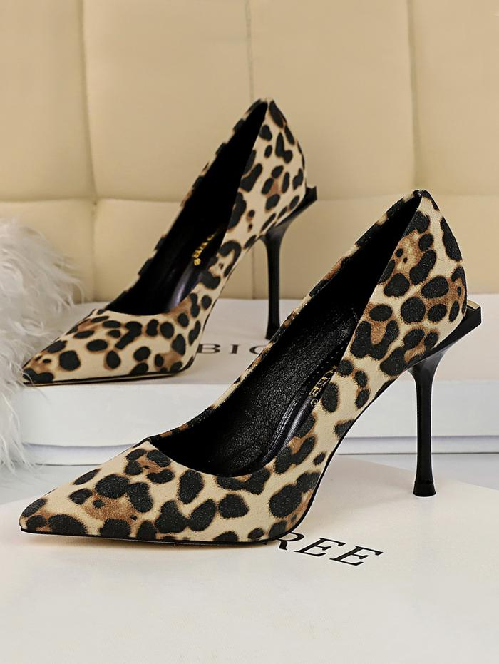 zaful Leopard Print Stiletto Heel Shoes