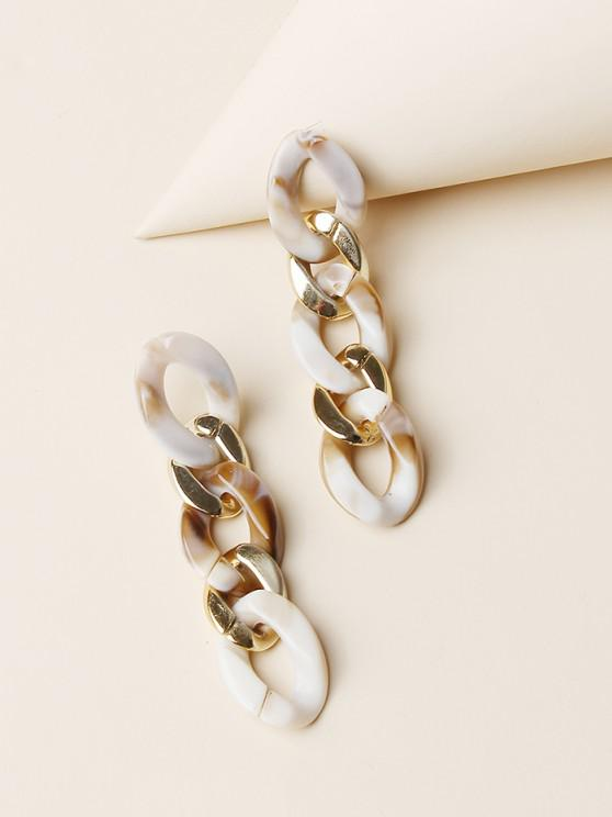 shop Colored Chain Drop Earrings - GOLDEN