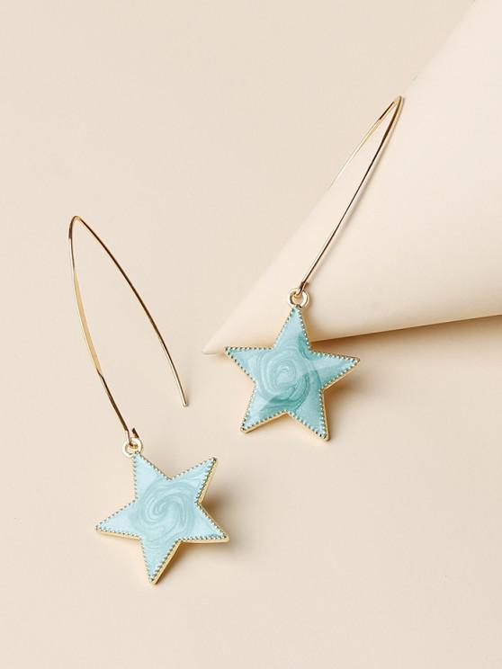 shops Pentagram Shape Glitter Drop Earrings - GOLDEN