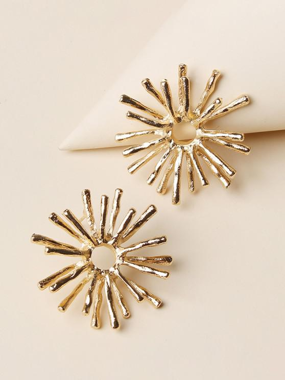 affordable Snowflake Shape Stud Earrings - GOLDEN