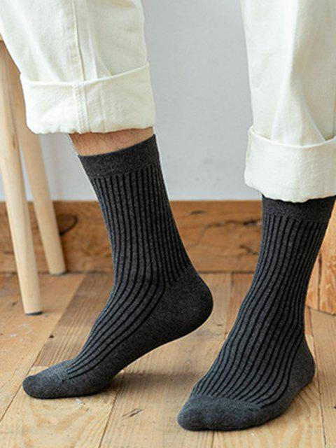 buy 8 Pairs Classic Cotton Solid Socks Set - MULTI-A  Mobile