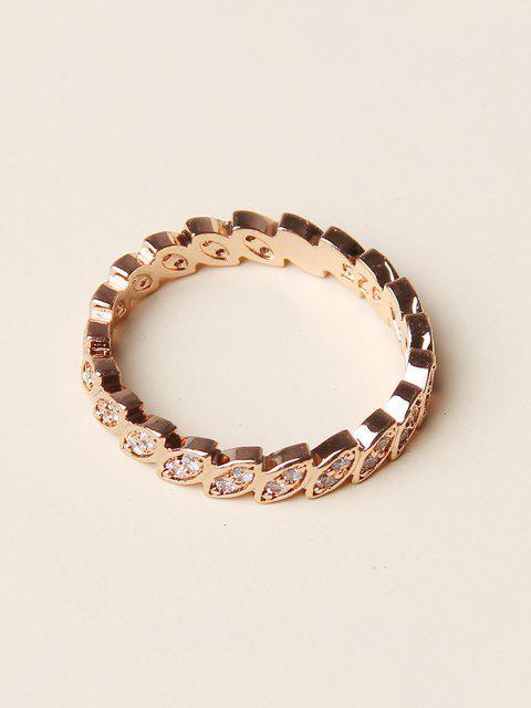 best Rhinestone Geometric Round Finger Ring - GOLDEN  Mobile