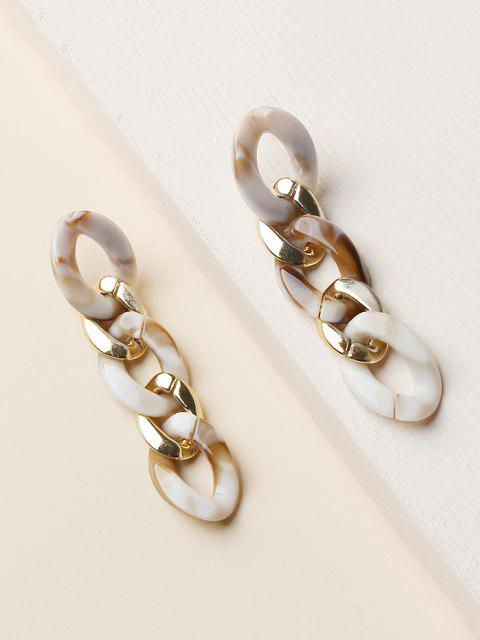 shop Colored Chain Drop Earrings - GOLDEN  Mobile