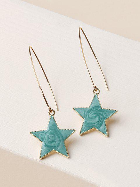 shops Pentagram Shape Glitter Drop Earrings - GOLDEN  Mobile