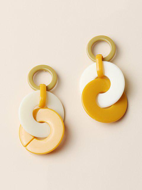 latest Colorblock Circles Acrylic Drop Earrings - MULTI-A  Mobile