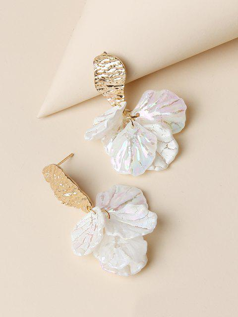 chic Floral Petals Shape Drop Earrings - GOLDEN  Mobile