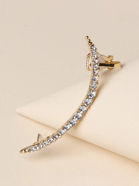 Rhinestone Single Stud Earring - ذهبي  Mobile